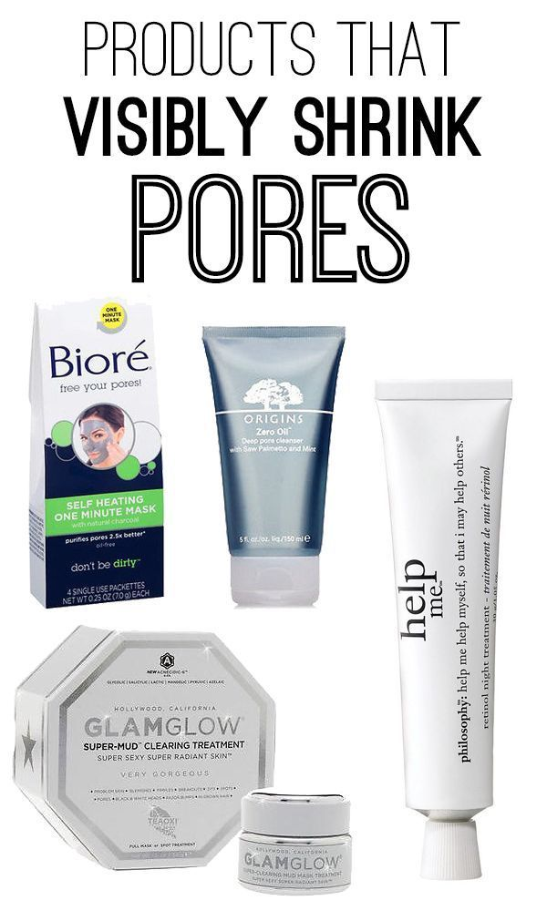 Products that will visibly SHRINK PORES!! Love all of these for getting rid of blackheads!!