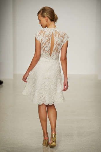 ec1fc24704e77 Another gorgeous lacy short bridal dress, this time by Amsale. :)