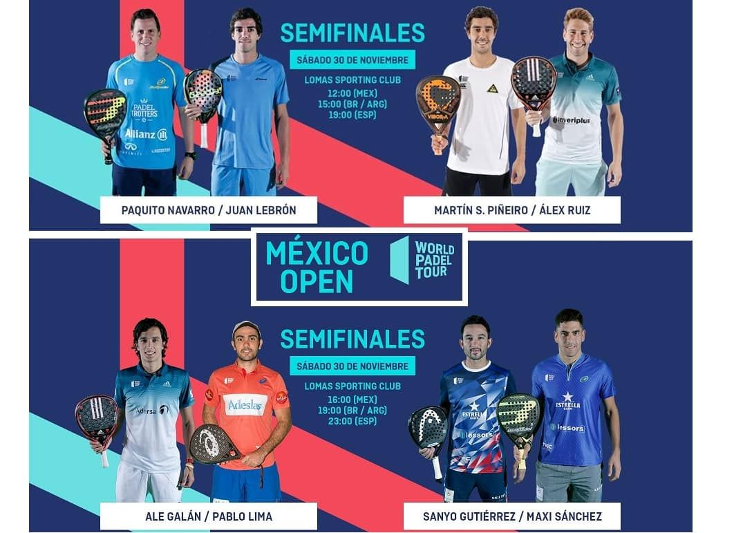 Semifinales World Pádel Tour México Padelstar Padel Ruiz España