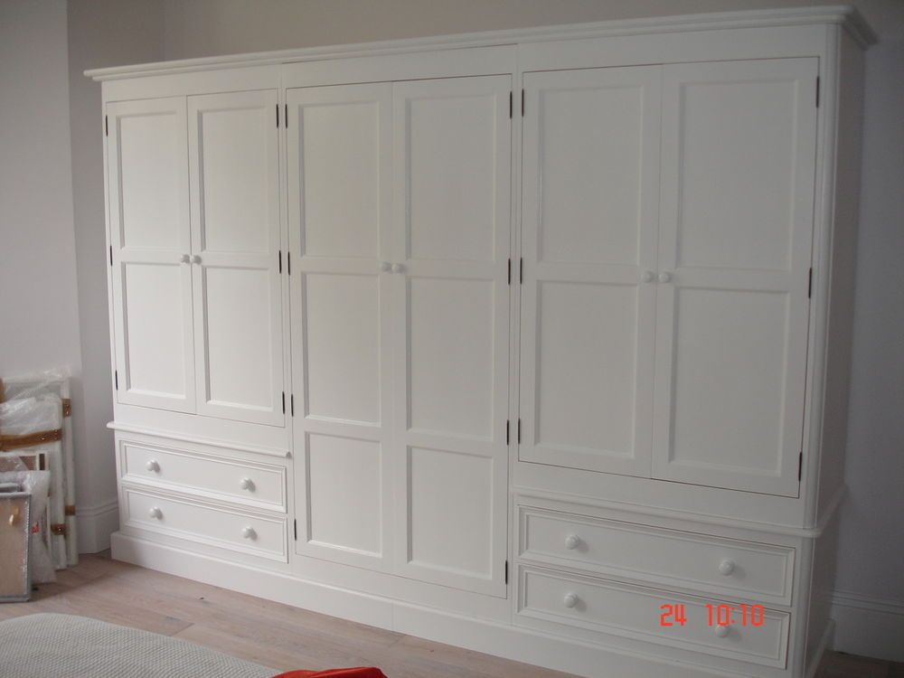 White Painted Large 6 door Solid Pine Victorian Style Shabby Chic ...