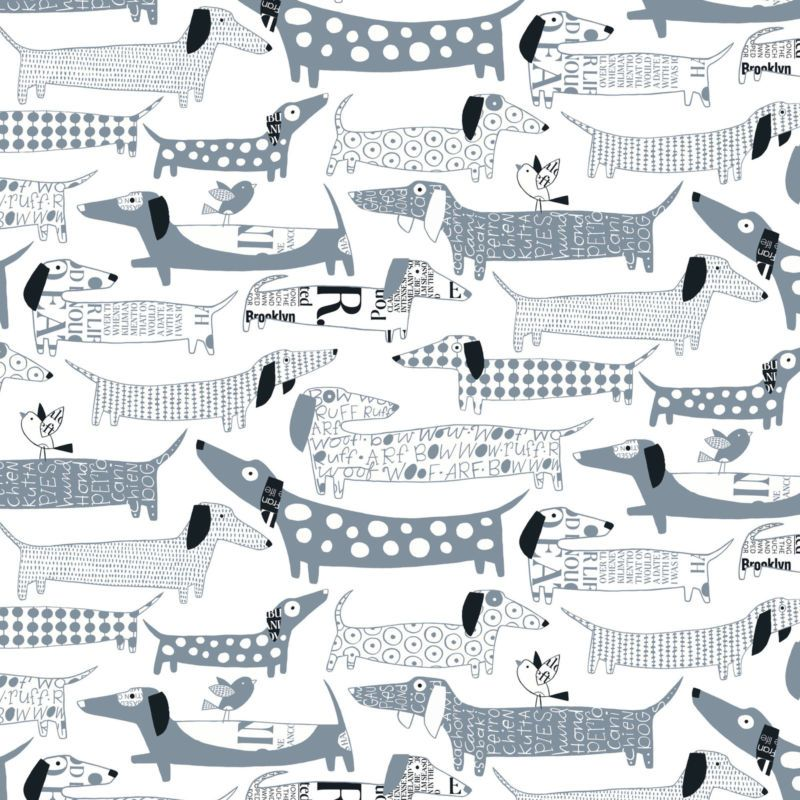 Dog Print Wallpaper loboloup wiener dog wallpaper set of 2 | dog wallpaper, wiener