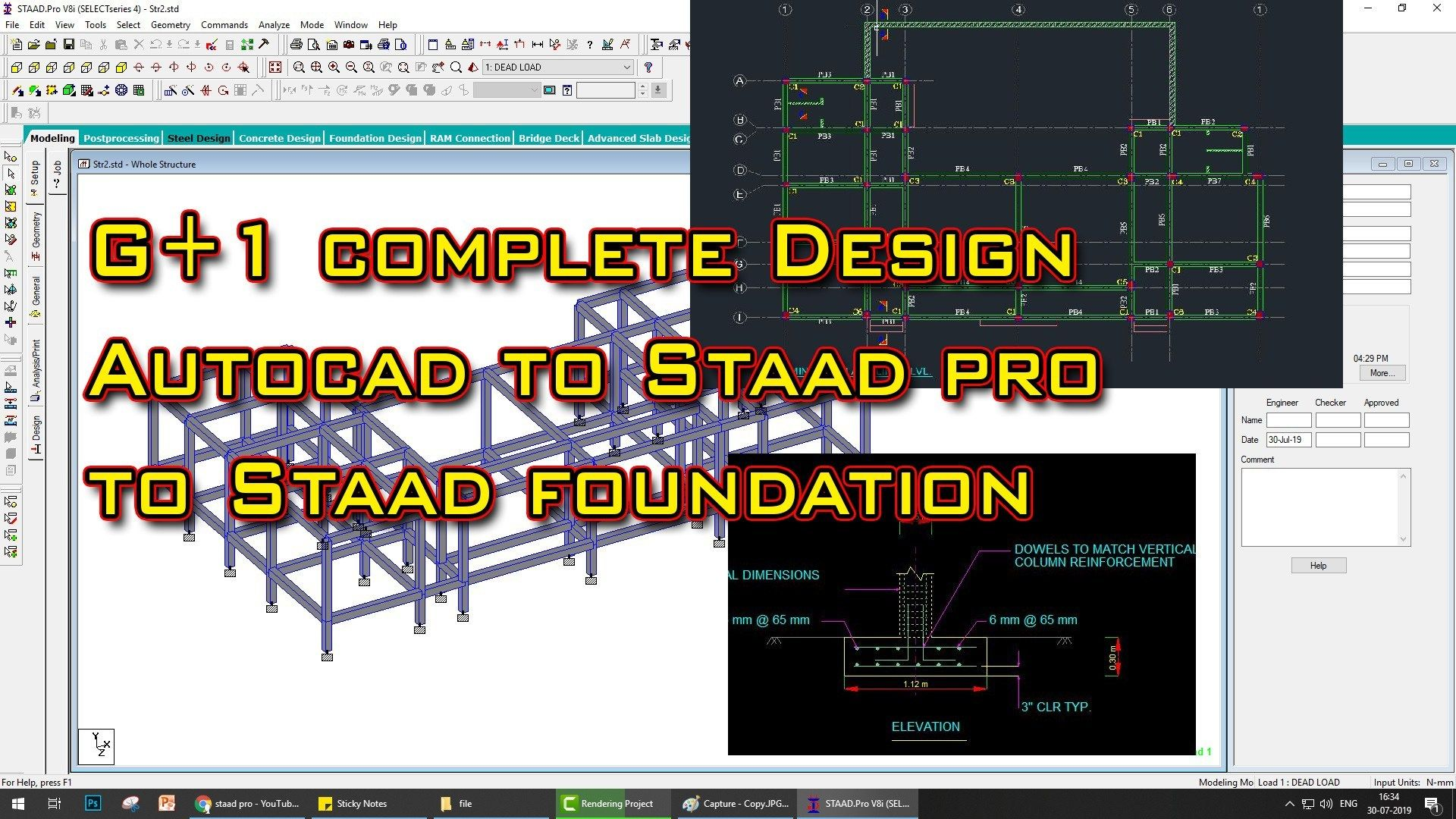 Building Design G 1 In Staad Pro Staad Foundation Foundation Engineering Civil Engineering Software Building Design