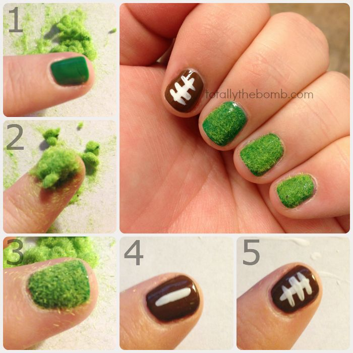 How to paint super easy football nail art football nail art how to paint super easy football nail art prinsesfo Image collections
