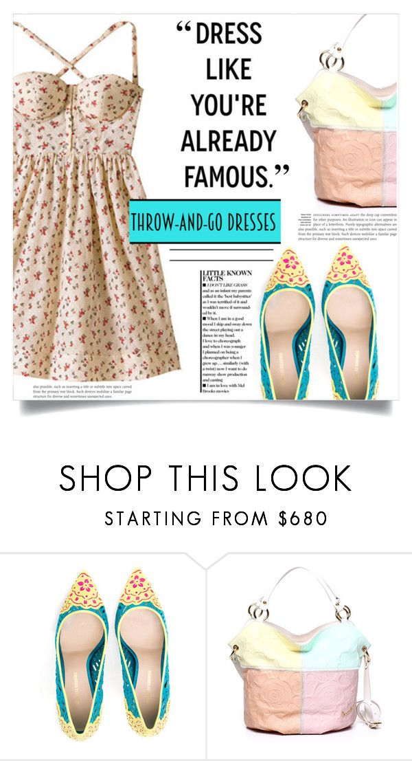 """""""Easy Peasy: Throw-and-Go Dresses"""" by dolly-valkyrie ❤ liked on Polyvore featuring Nicholas Kirkwood and easypeasy"""