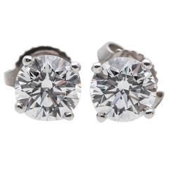 Tiffany Co 1 46 Carat Diamond Stud Earrings