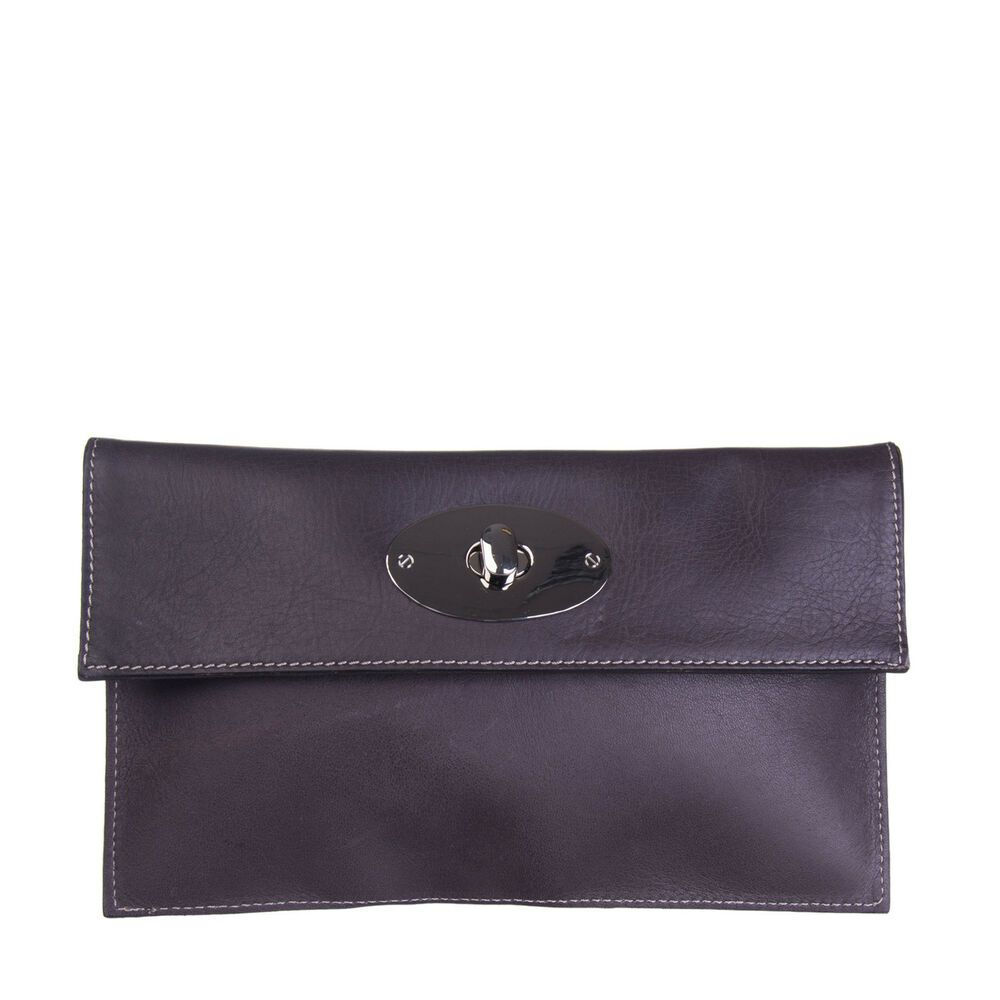 e03f51f221aa0b ... Leather Clutch Bag HANDMADE Turnlock Flap Made in Italy  fashion   clothing  shoes  accessories  womensbagshandbags  clothingshoesaccessories  (ebay link)