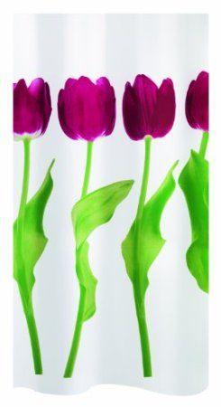 Spirella 1014423 Tulipa Duschvorhang 180 X 200 Cm Dark Pink