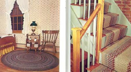 Love the braided rugs on the stairs!!