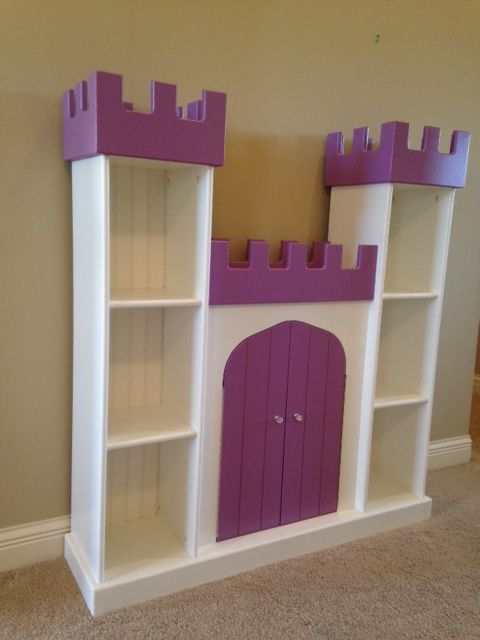 Princess Toys Box Storage Kids Girls Chest Bedroom Clothes: Castle Bookcase By Brian Hulett Woodworking