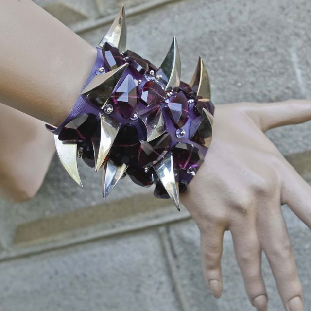 Purple Amethyst worn by Sharon Needles. House of Cach  www.houseofcach.com