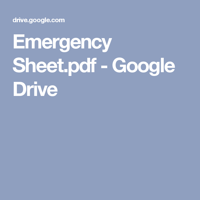 Emergency Sheet.pdf - Google Drive