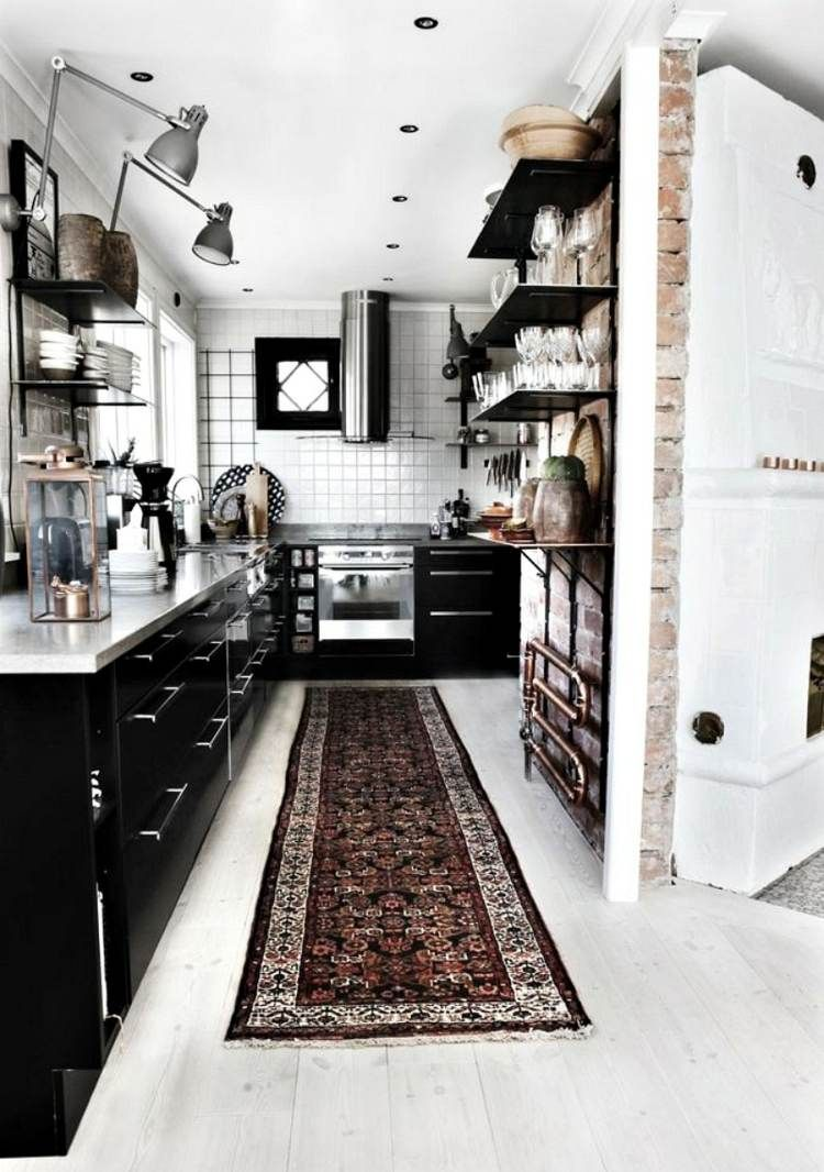 Helle moderne Küche im industiellen Stil | küche | Pinterest ...