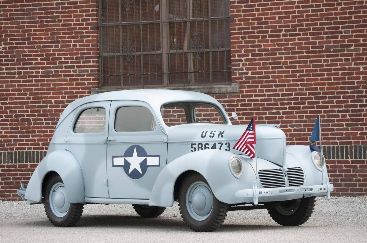 Hemmingsmotornews navy themed 1940 willys four door sedan for sale on hemmings
