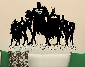 Superman Wall Decal Vinyl Stickers Comics By BestDecalsUSA On Etsy