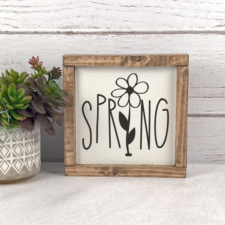 Photo of Spring Farmhouse Wood Sign
