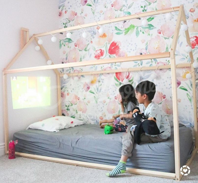 Big Kid Room Love The House Frame Bed Toddler Floor Bed House