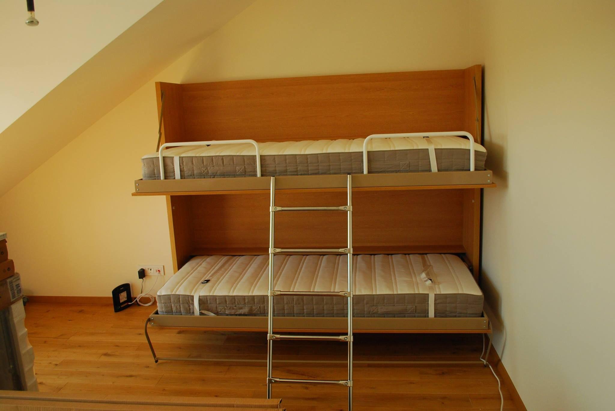 Genial Vånings Väggsäng / Sängskåp. Bunk Wall Bed.
