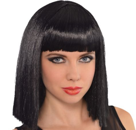 Ebony Blunt Bob Wig - Party City Cosplay/halloween costume ideas - party city store costumes