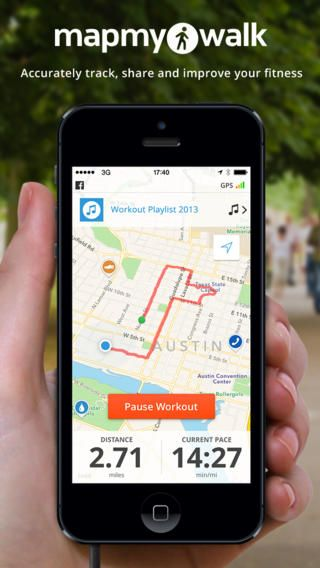 NUTRITION AND EXERCISE - Walk with Map My Walk - GPS Pedometer for
