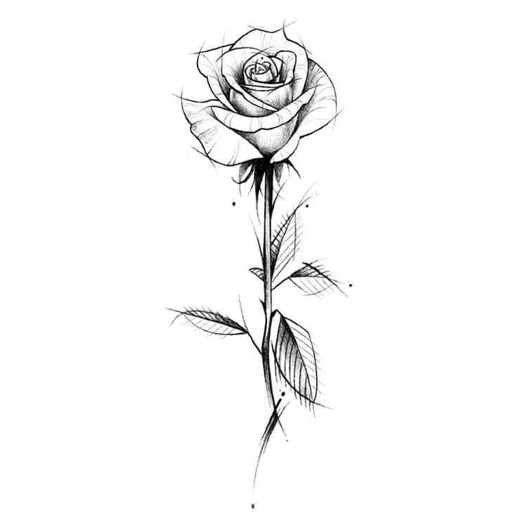 мини картинки для тату роза выбрали джинсы
