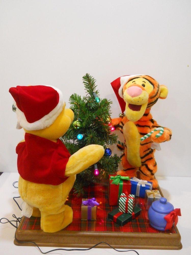 Telco disney winnie the pooh tigger piglet tree animated christmas