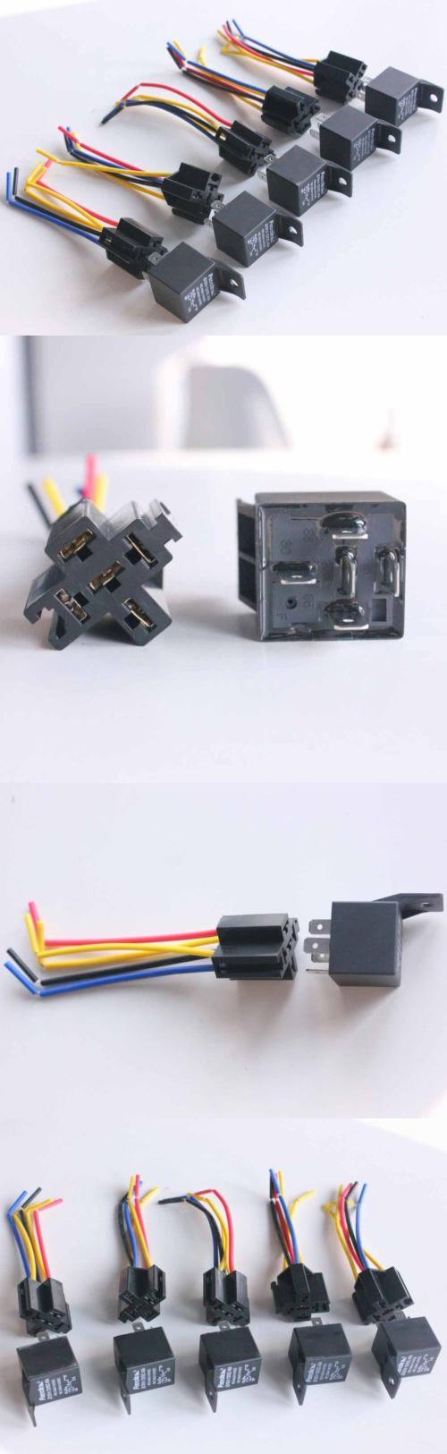 Relays And Sensors 5pcs 12v Volt Spdt Relay Wire Socket Car 5a Automotive Alarm 40