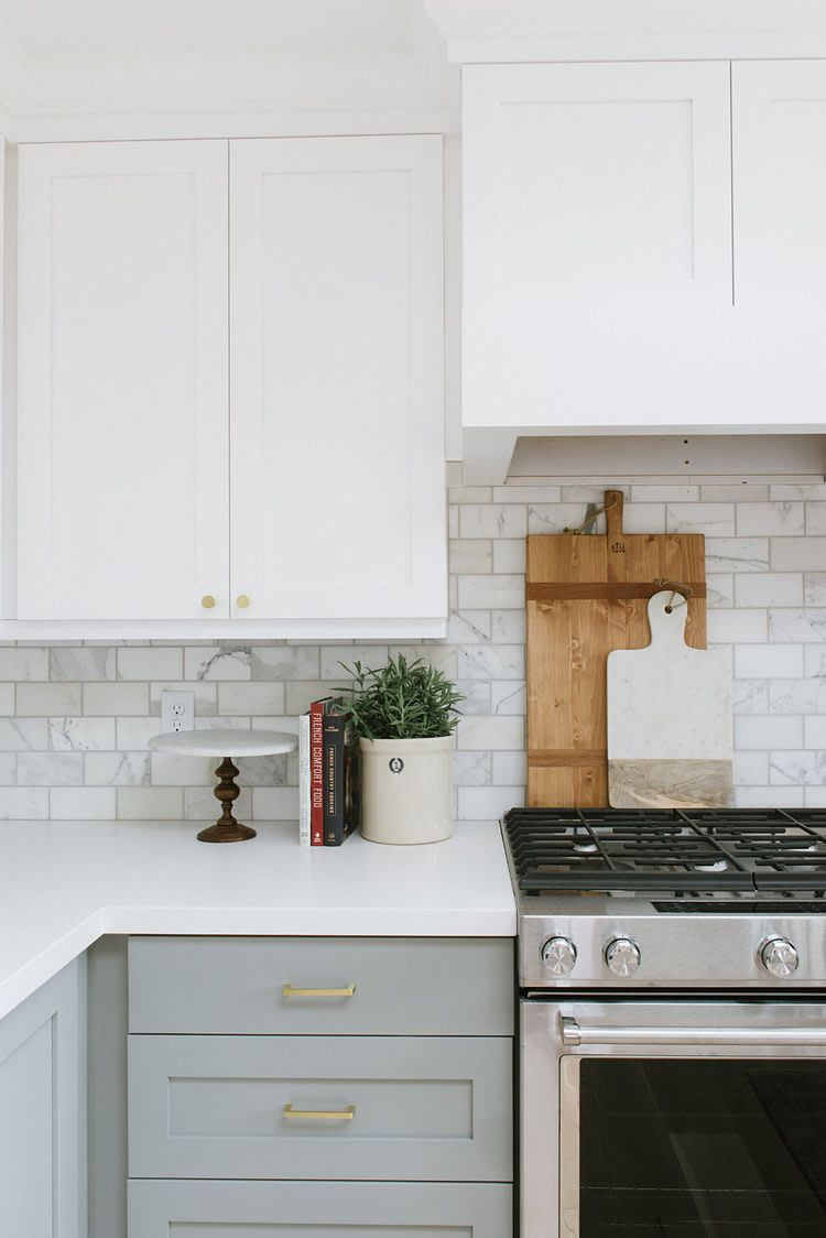 Light Gray Kitchen Cabinets Are About As Uncomplicated As It Gets In 2020 Simple Kitchen Cabinets Kitchen Tiles Design Light Grey Kitchen Cabinets