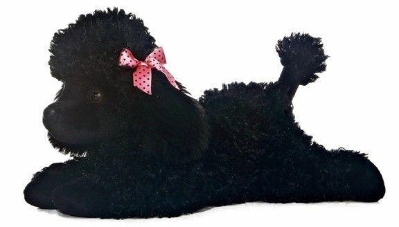 """12"""" Aurora Plush Puppy Dog Black Poodle """"Star"""" Flopsie Stuffed Animal Toy 31493 #Aurora"""