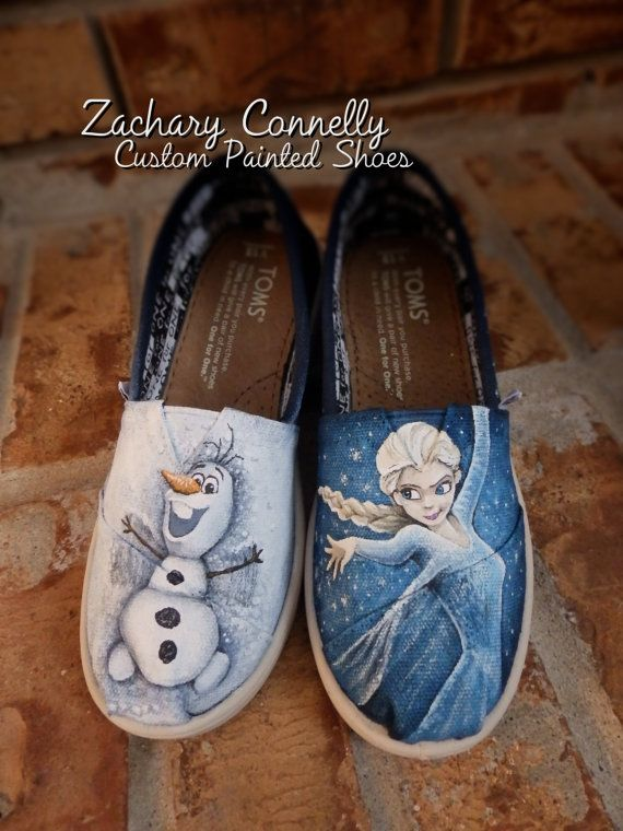 finest selection b8961 cafca Disneys Frozen Youth Toms shoes by ZacharyConnellyArt