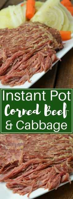 If you love St. Patrick's day or are just a fan of delicious corned beef, you need to try this recipe ASAP! Instant Pot corned beef and cabbage is a win-win-win.