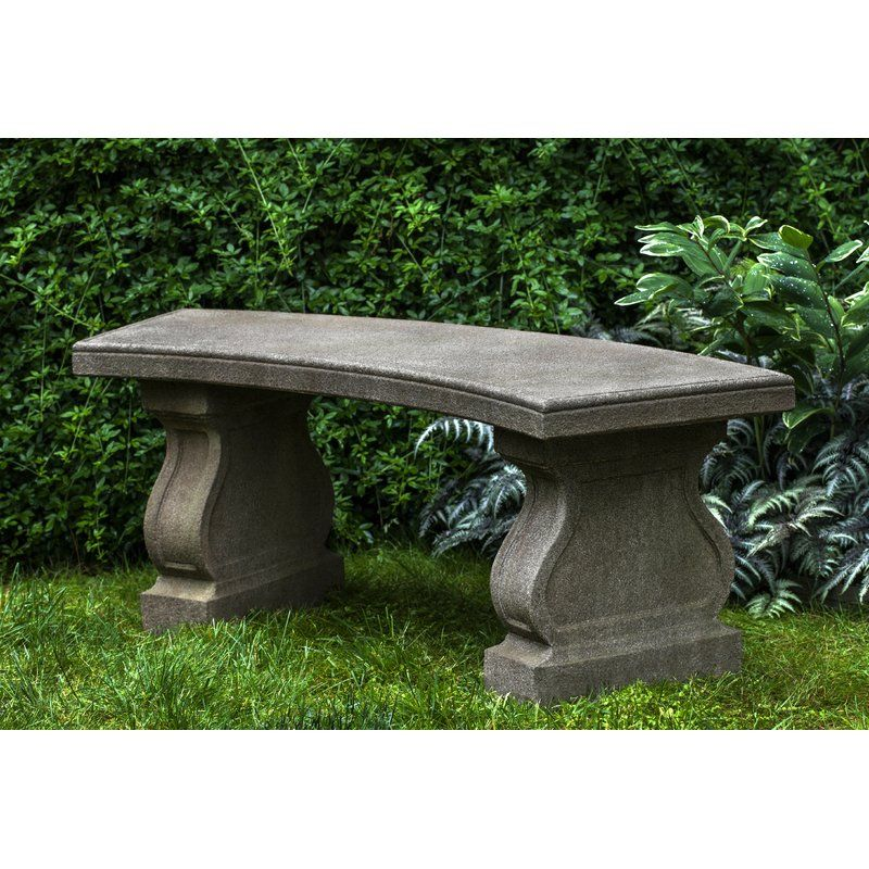 Zimelman Cast Stone Garden Bench Cast Iron Garden Bench Stone