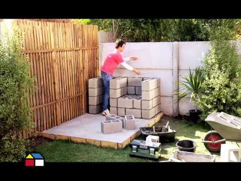 C mo hacer una parrilla con bloques de concreto diy for Ideas para decorar mi patio
