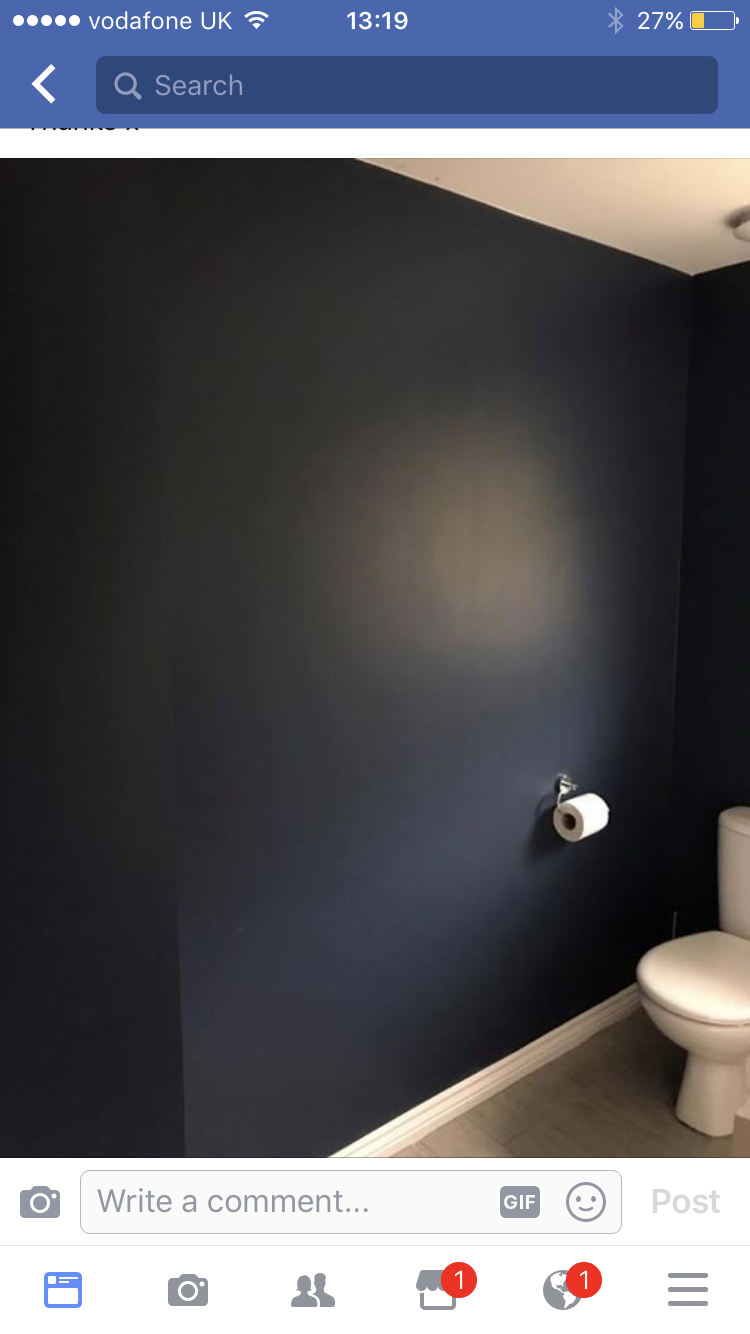 Sapphire Salute Dulux Navy Living Rooms Downstairs Loo Bathroom