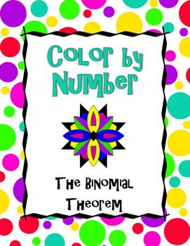 The Binomial Theorem Color by Number Absolute value