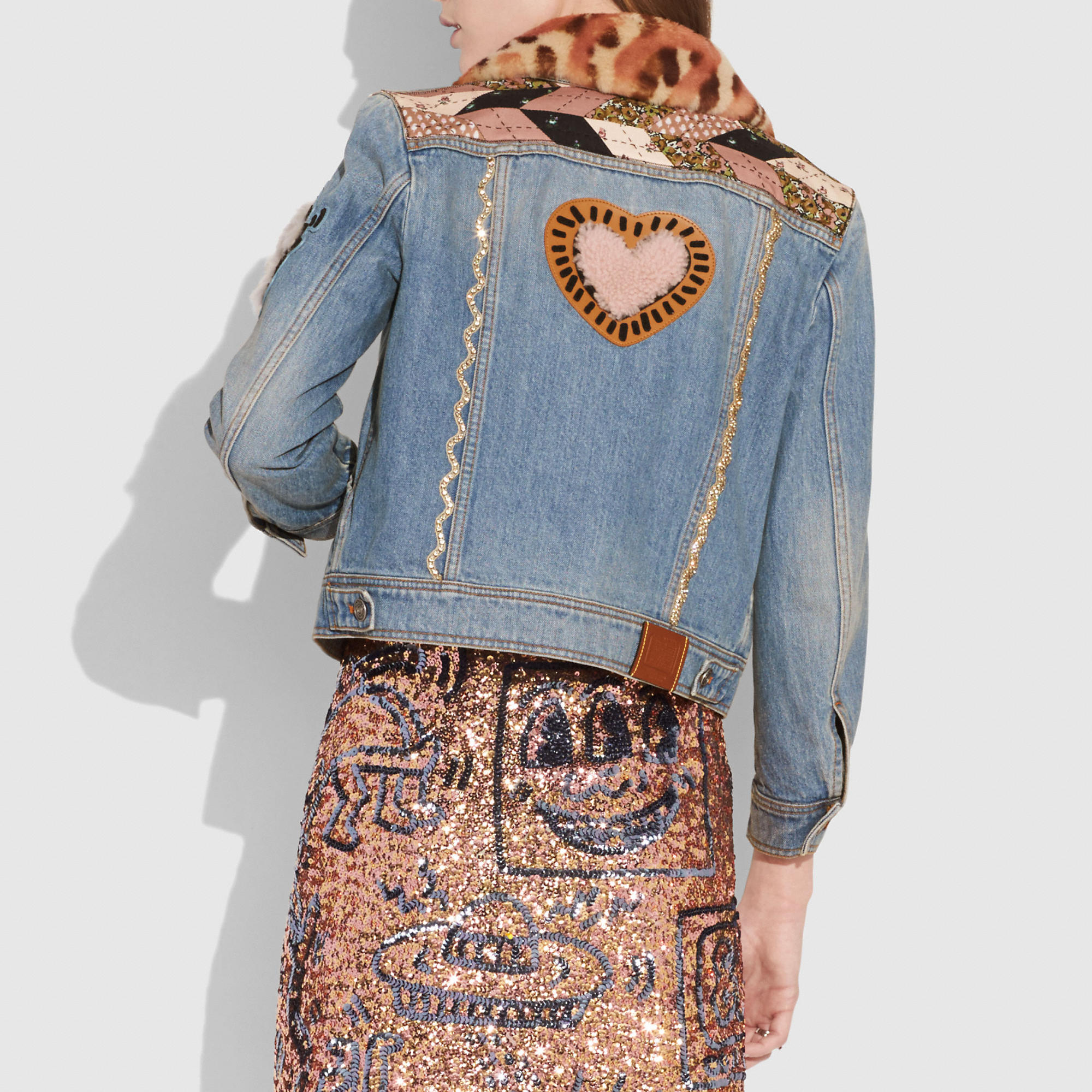 Women S Jackets Coats Outerwear Coach Jackets Denim Jacket Upcycle Clothes [ 2000 x 2000 Pixel ]