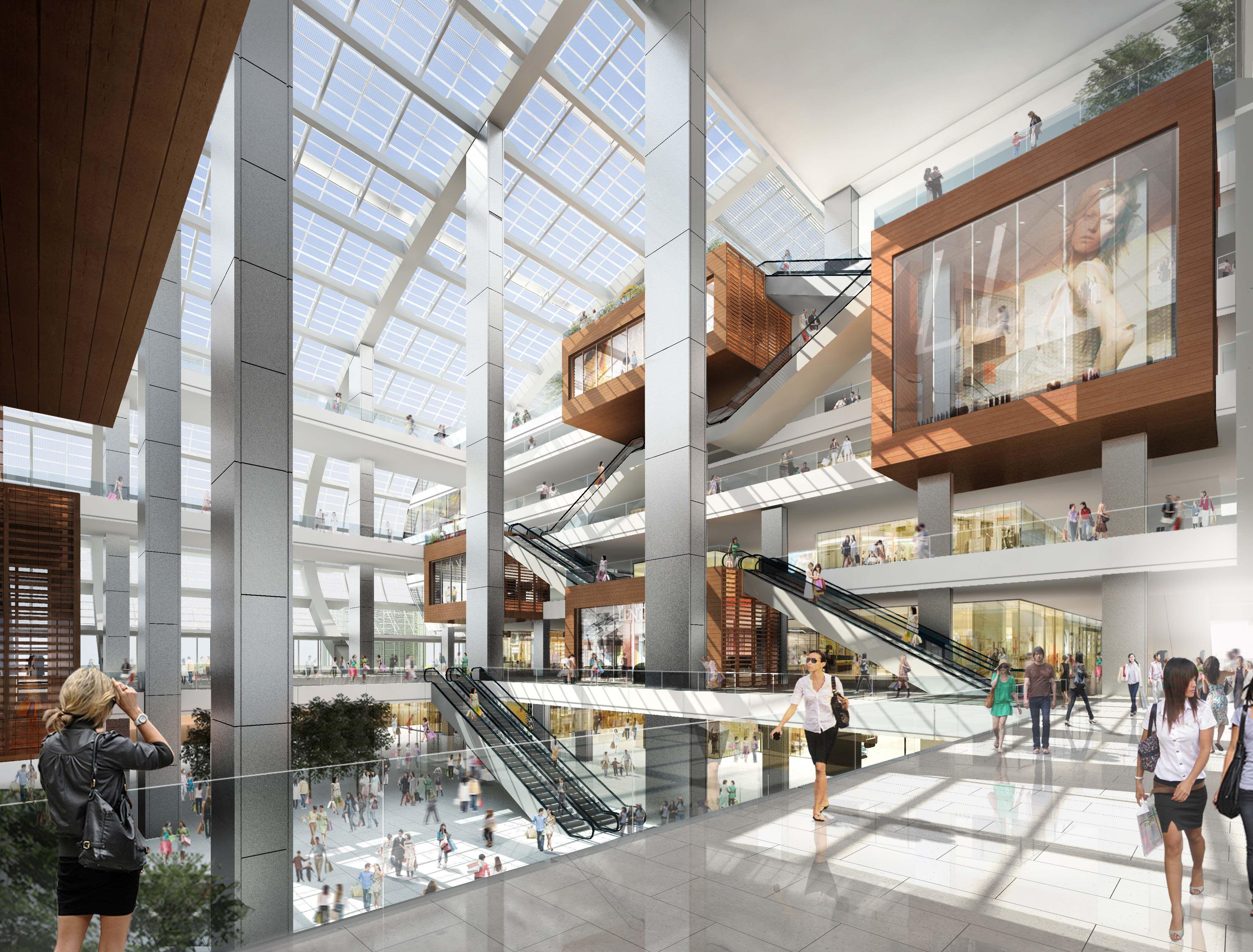 Kohn pederson renderings of interior mall design makes me - Espacios comerciales arquitectura ...