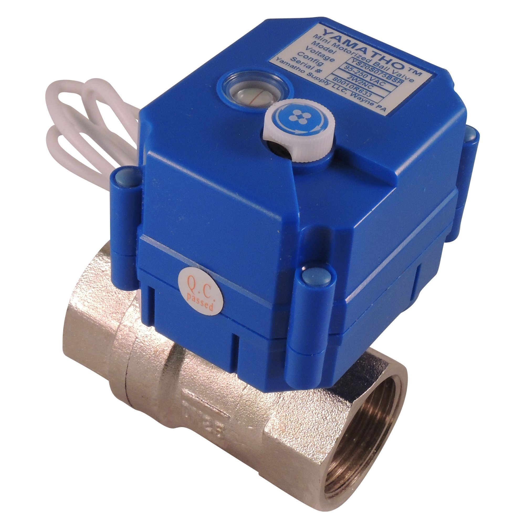 Electric Ball Valve Ys20skt2s 2 Wires W Position Elec Ind Normally Closed 24 Vdc Yamavalve Valve Actuator Specialty Chemicals