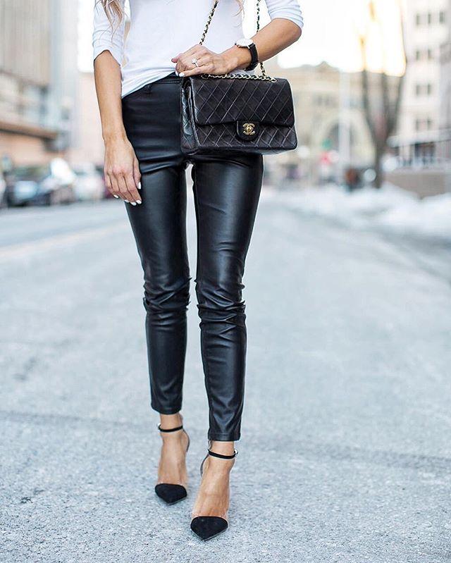 Comfortable, yet chic weekend wear. @liketoknow.it www.liketk.it/2cDta #liketkit #leatherpants #ltkunder100