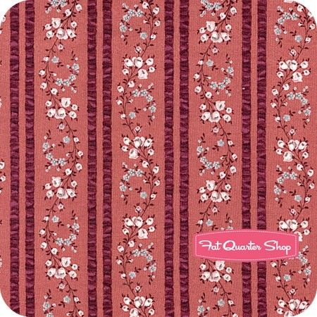 Daphne Light Wine Floral Stripe Yardage SKU# Y1361-47