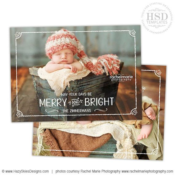 christmas card templates for photoshop photo overlay cards