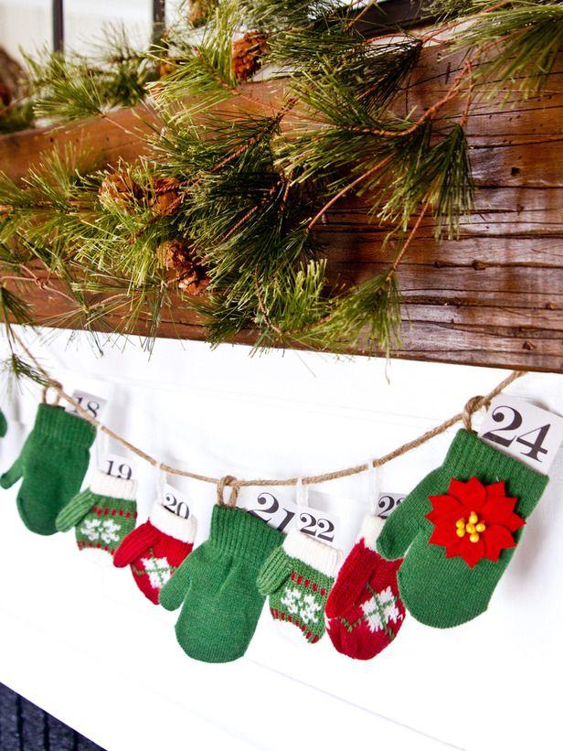 How to Make a Mitten Garland Advent Calendar
