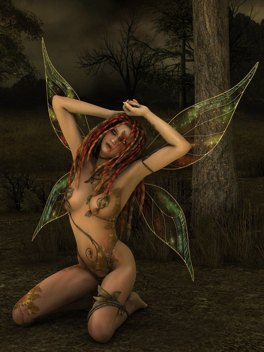 Daydreaming faerie painting by john silver