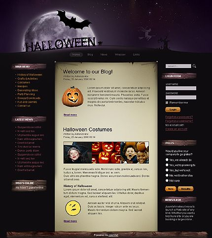 17 Best images about Halloween Web Templates on Pinterest | Shops ...