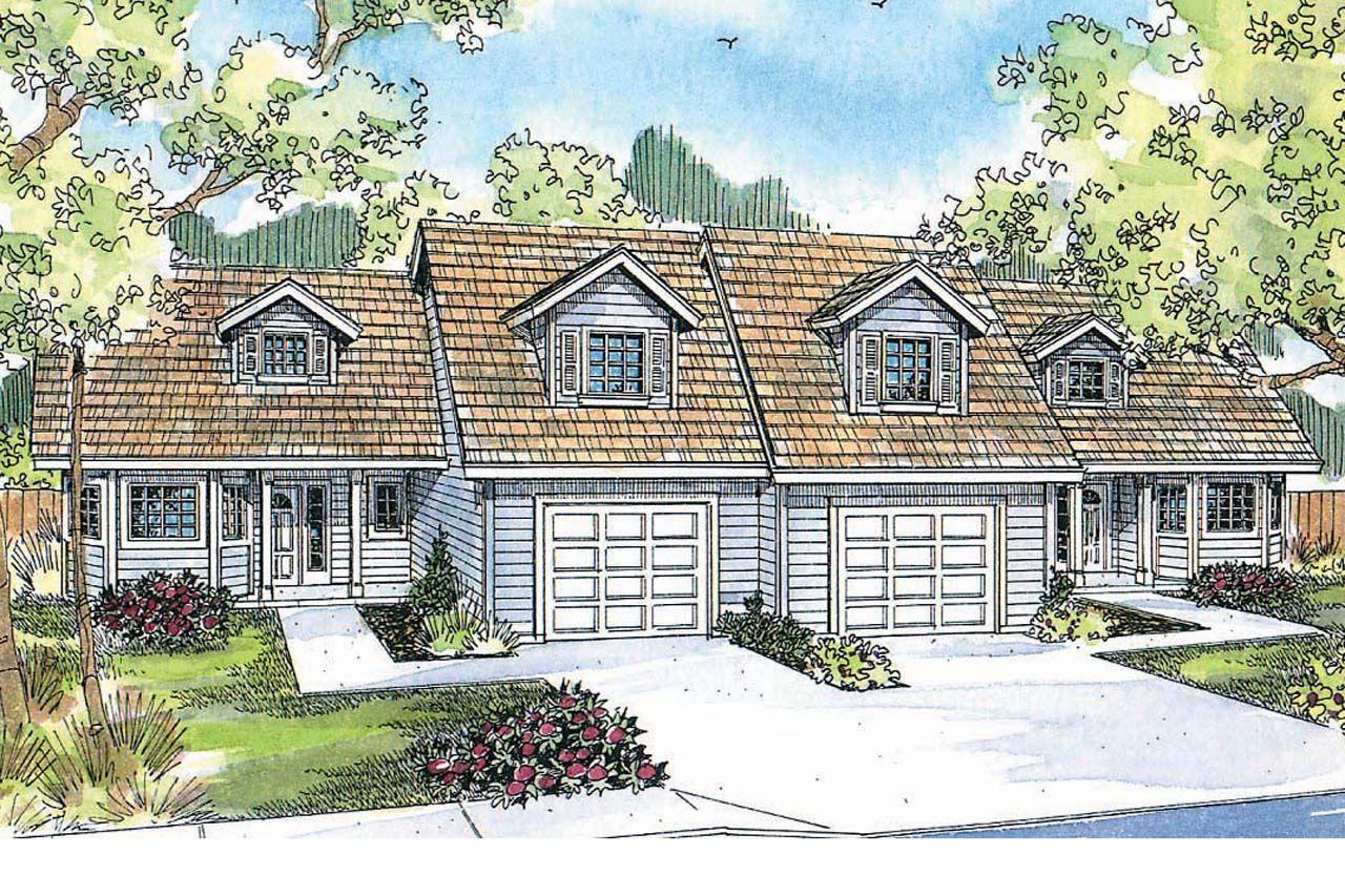 Duplex plan kirkwood 60 013 front elevation duplex for Kirkwood elevation