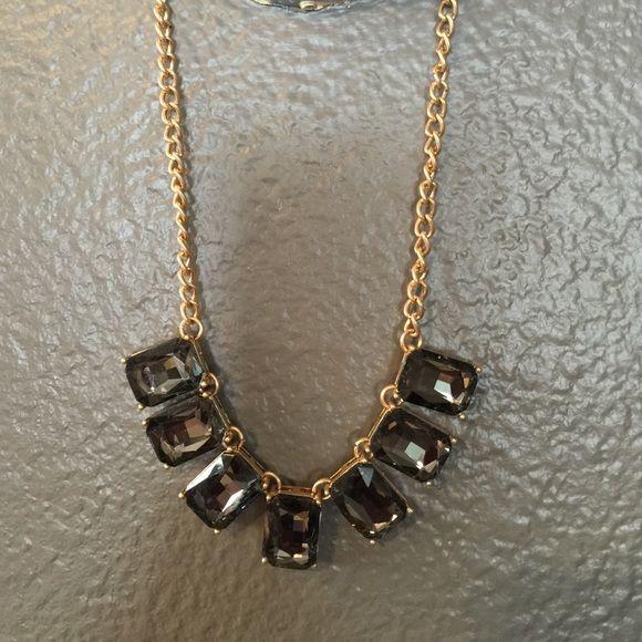 Dark jewel necklace Adjustable length. Gold hardware Jewelry Necklaces