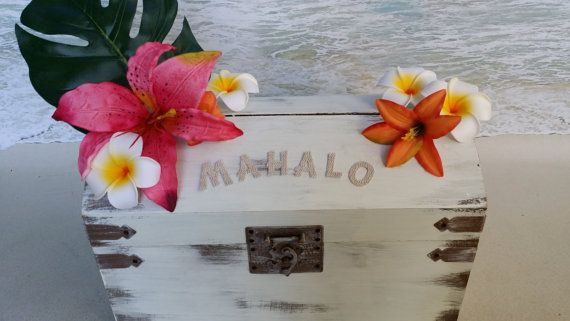 Hawaiian Wedding Gift Ideas: Tropical Card Box By ParadiseBridal