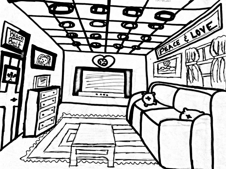 Children Drawing Bedroom