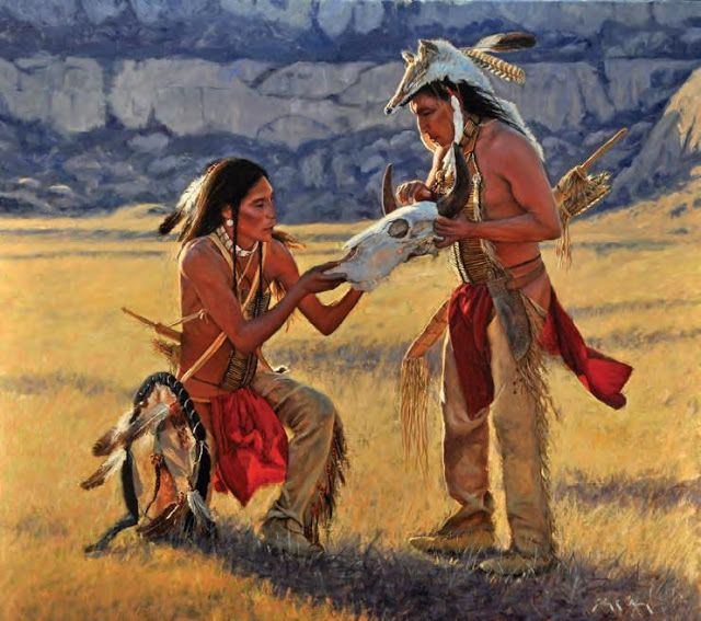 A depiction of native american medicine entitled how they treat stock photo
