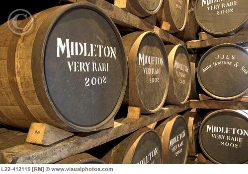 Jameson whiskey barrels. The Old Midleton distillery. Cork ...