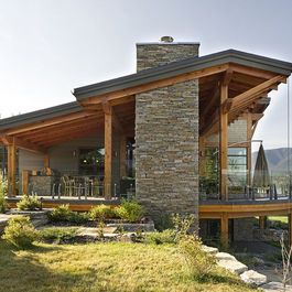 Windermere Lakeside Residence Rustic Exterior Vancouver By Site Lines Architecture Inc House Exterior Roof Design Contemporary House